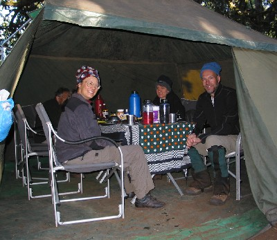 When we arrived at c& our tents (and all of the porter tents cooking tent and our dining tent) had all been set up. As soon as we entered c& ... & Kilimanjaro 2005 Forest Camp